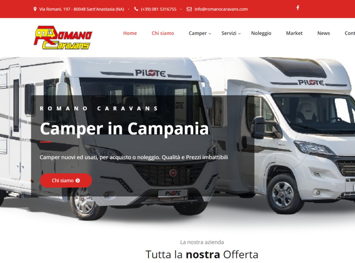 Nuovo sito Romano Caravans